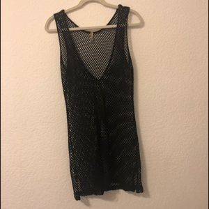 LF black Mesh Cover-up